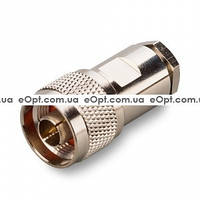 Разъем N Male на кабель RG-8, RG-213, Belden H-1000/9913 центр O2,6mm (Пайка)