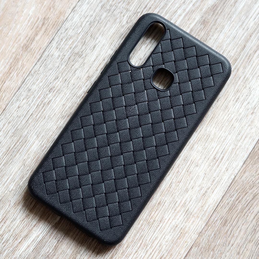 Матовый силиконовый чехол для Vivo Y15 (черный)
