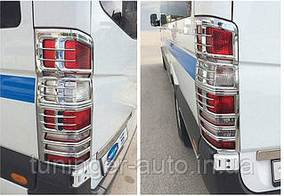 Хром на стопы, окантовка задних фонарей Mercedes Sprinter W906 2006+