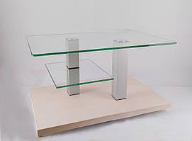 Стол журнальный стеклянный Plato mini lux CC Kl (800*500*455)