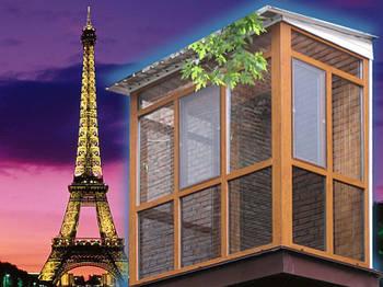 Балкон пластиковый, французский: Rehau, Veka, WDS, Steko. Рассрочка, кредит, бесплатная доставка.