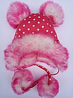 Зимняя трикотажная шапка девочке, фото 1