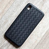 Матовый силиконовый чехол для Vivo Y91c (черный)