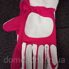 Кожаные и качественные  рабочие перчатки с трикотажными вставками