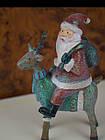 Новорічна статуетка Дід мороз на оленя, фото 2