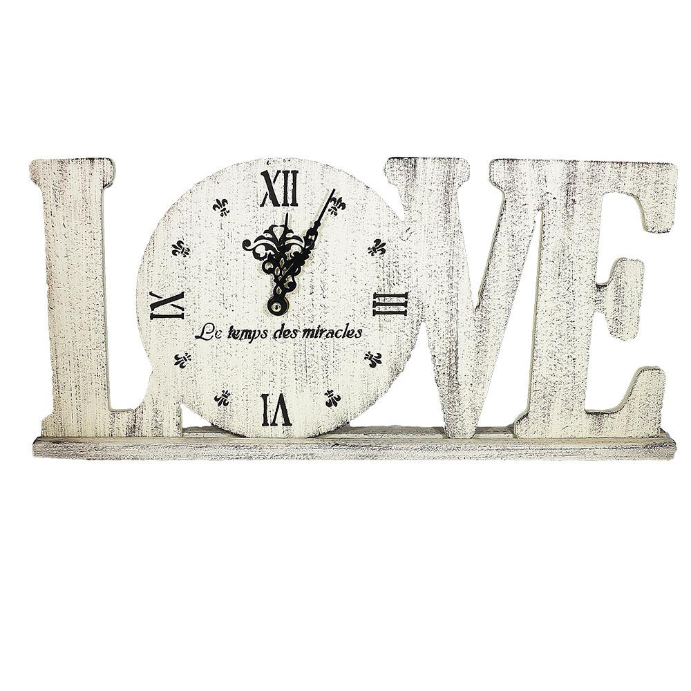 Часы настольные настенные Love Гранд Презент Бжевый (L1802)