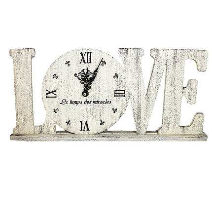 Часы настольные настенные Love Гранд Презент Бжевый (L1802), фото 2