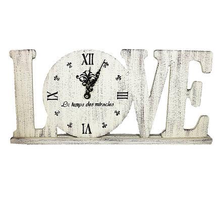Настінні годинники настільні Love Гранд Презент Бжевый (L1802), фото 2