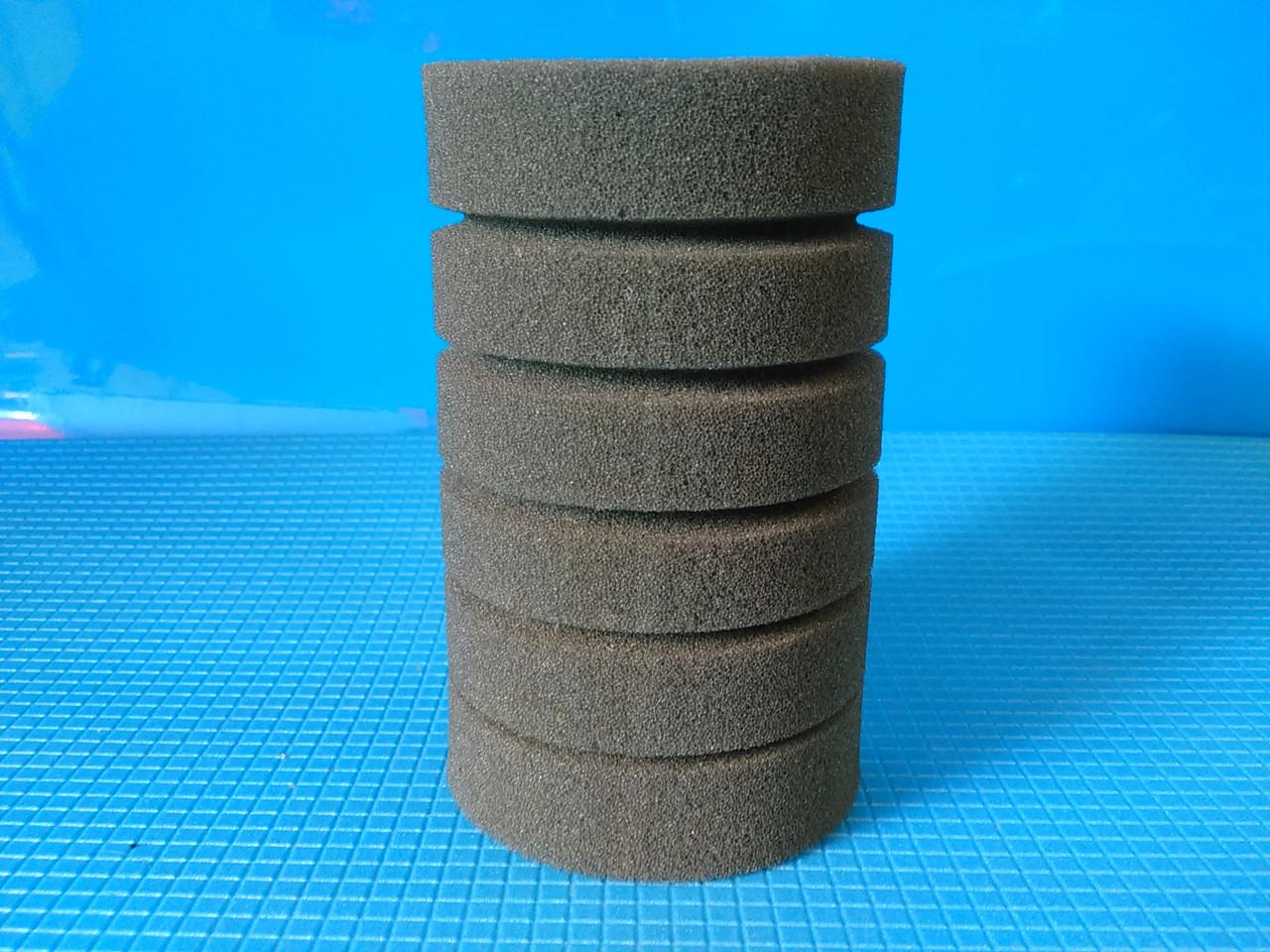 Мочалка серая, цилиндрическая (10*20)см, с прорезями для лучшей фильтрации