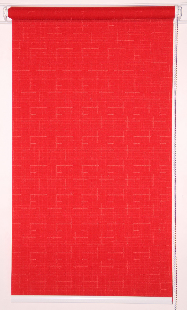 Рулонна штора 975*1500 Льон 610 Червоний
