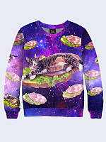 Свитшот Кот и бутерброд в космосе