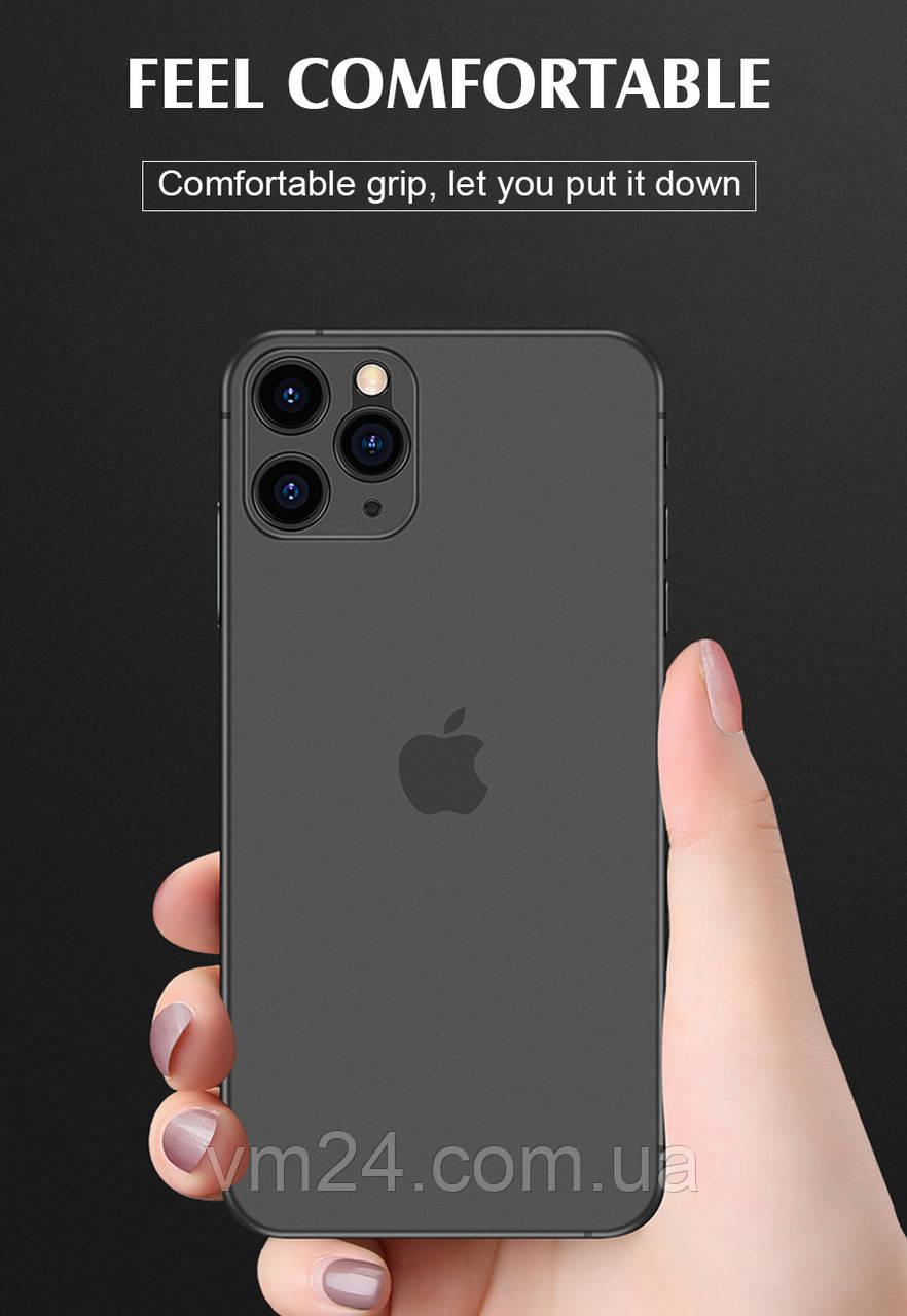 Противоударный 0,3 мм ультра тонкий чехол для iphone 11 Pro X XS XR Max матовый чехол из ТПУ для iphone