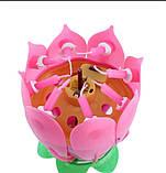 Музыкальная свеча для торта в виде Лотоса, фото 7