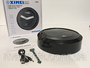 Робот пылесос Ximei Smart Robot 14+ на аккумуляторе (черный)