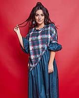 Женское длинное платье большого размера.Размеры:50-56., фото 1
