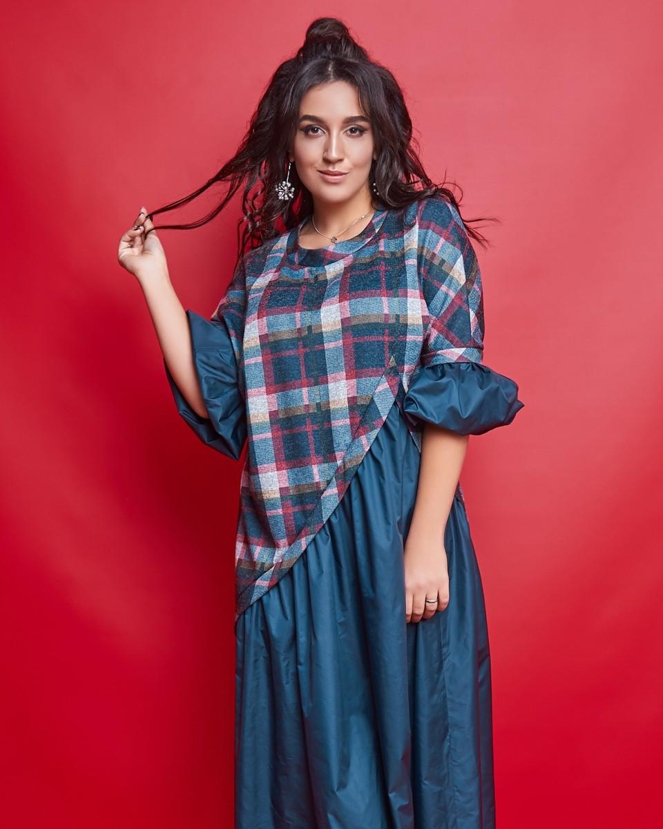 Женское длинное платье большого размера.Размеры:50-56.