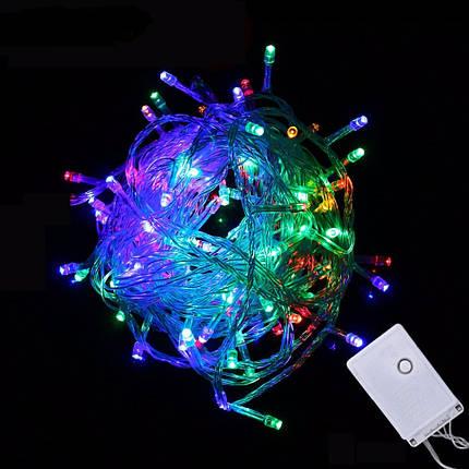 Новогодняя гирлянда нитка Xmas 400 LED ламп МУЛЬТИКОЛОР (прозрачный провод, 28 метров), фото 2