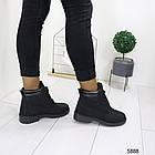 Женские зимние ботинки черного цвета, эко кожа (под нубук) 36 ПОСЛЕДНИЙ РАЗМЕР, фото 2
