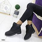 Женские зимние ботинки черного цвета, эко кожа (под нубук) 36 ПОСЛЕДНИЙ РАЗМЕР, фото 4
