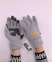 Зимові рукавиці флісові Jack Wolfskin Gray