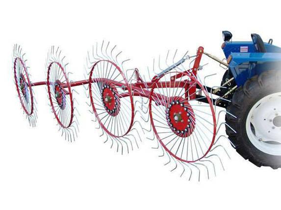 Грабли ворошилки (Солнышко) 4-ёх колесные Ø 6 мм Украина, фото 2