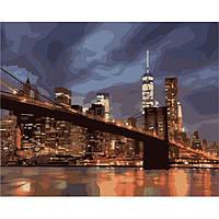 Картина по номерам Идейка Ночной Нью Йорк 50х40 (KHO2133)