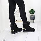 Женские черные угги, эко замша 36 ПОСЛЕДНИЙ РАЗМЕР, фото 3