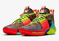 Подростковые баскетбольные кроссовки Air Jordan Why Not Zer0.2 All Star Camo Green