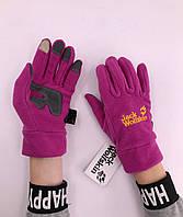Зимові рукавиці флісові Jack Wolfskin Claret