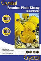 Фотобумага Crystal А4 150/100 глянцевая 100 листов