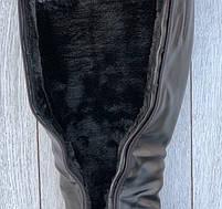 Сапоги женские зимние 6 пар в ящике черного цвета 36-40, фото 3
