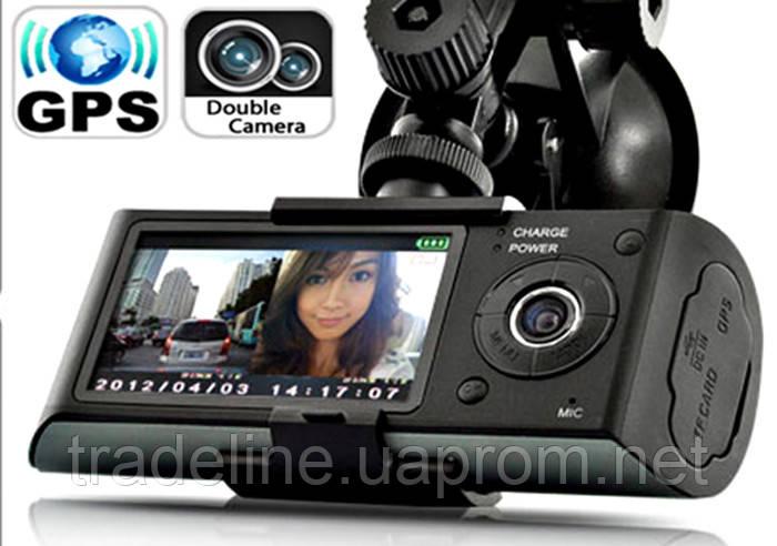 Двухкамерный видеорегистратор X3000 с GPS + ГАРАНТИЯ !!!