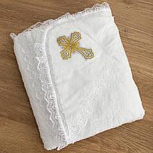 Крижмо для хрещення з капюшоном і хрестиком, фото 3