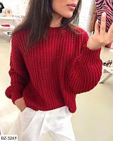 Вязаный свитер женский зимний теплый батник свитшот размеры 42-46 есть цвета