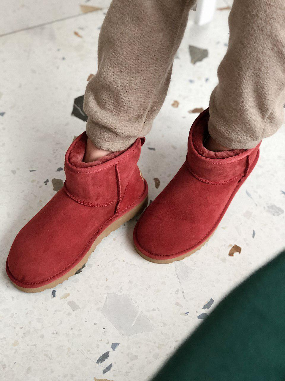 Женские Ugg угги на меху RED