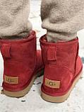 Женские Ugg угги на меху RED, фото 8