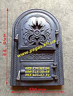 Дверка чугунная (Румынская №2.2) 330х530 мм, грубу, печи, барбекю, мангал