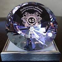 Логотип Вашей компании в хрустальном кристалле - Подарок руководителю, директору, начальнику