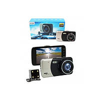 Автомобильный видеорегистратор на 2 камеры D503S, фото 1