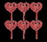 Топпер для кап-кейков Сердце в форме розы, фото 2
