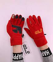 Зимові рукавиці флісові Jack Wolfskin Red