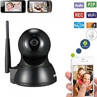Охранная камера беспроводная Wi-Fi IPcam ESCAM QF007 Ночное видение Видео и радионяня. Датчик движения. iCSee