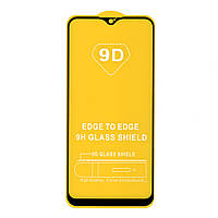 Защитное стекло Full Glue для Vivo Y15 (черный) (клеится всей поверхностью)