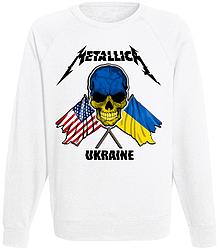 Свитшот Metallica - Ukraine (белый)