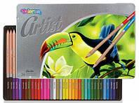 Карандаши цветные в металлической упаковке, серия Artist, 36 цветов, Colorino (83270PTR)
