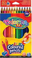 Карандаши цветные треугольные Jumbo (12 цветов), Colorino (15530PTR/1)