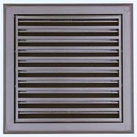 Решетка пластиковая Вентс МВ 100с коричневая, фото 1