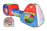 """Детская двойная палатка с тоннелем """"3 в 1"""" 999-148, 230х78х91см"""