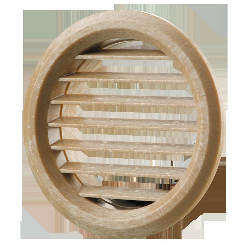 Решетка дверная круглая Вентс МВ 50/2 бВ дуб светлый
