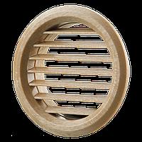 Решетка дверная круглая Вентс МВ 50/2 бВ дуб светлый, фото 1